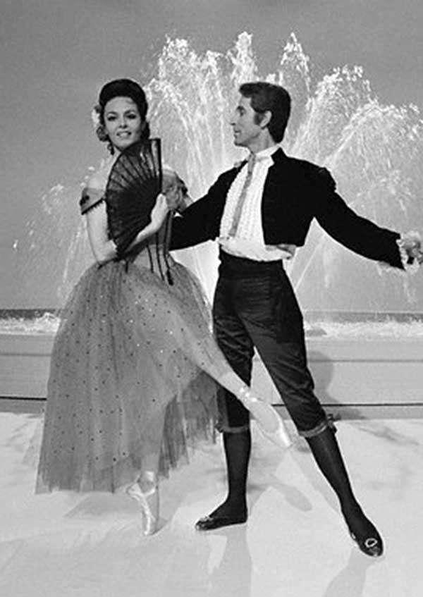 Мишель Мерсье с Роланом Пети, 1965 год.