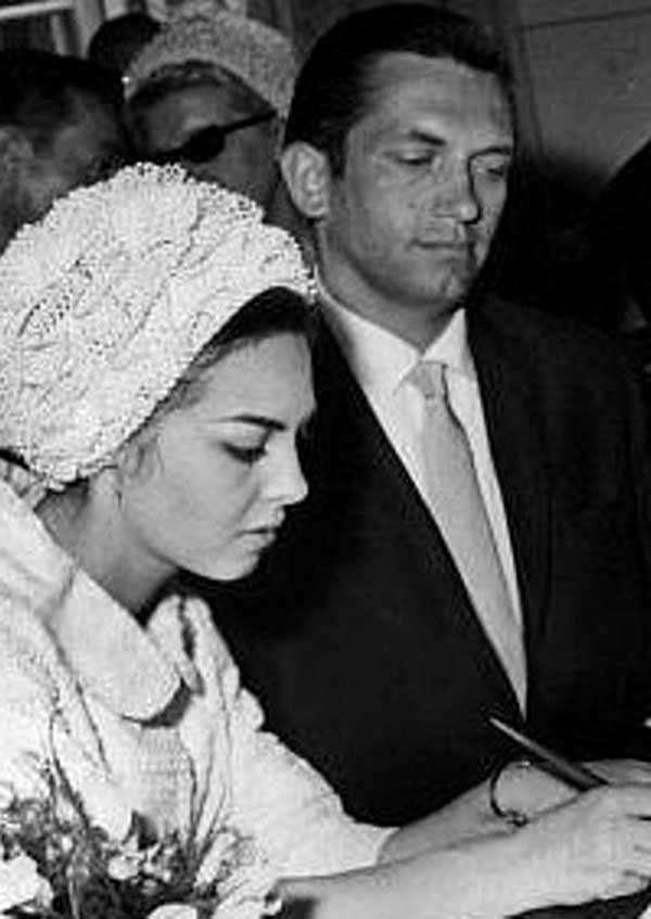 Второй муж Мишель Мерсье Андре Смагги. Бракосечетание.